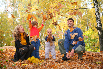 Family in autumn park